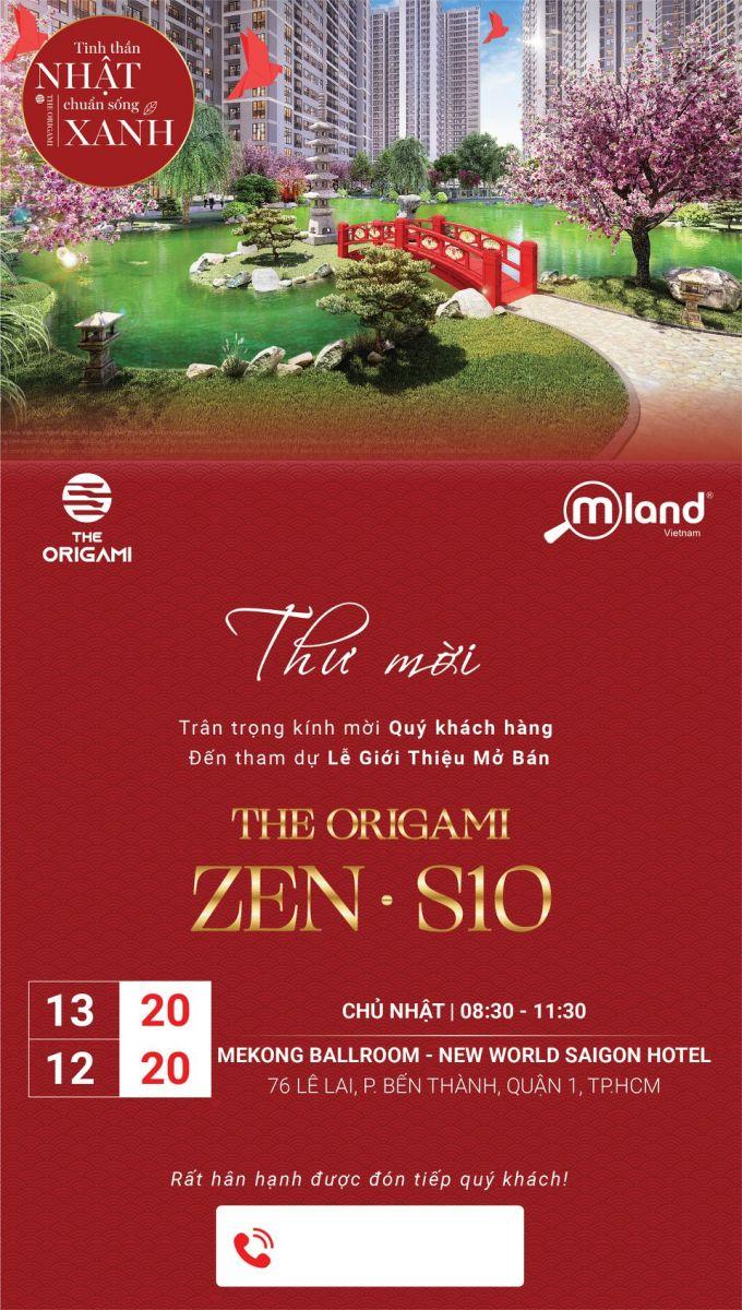 Đón chào lễ mở bán The Origami Zen (S10) - Phân khu sở hữu vườn Nhật đầu tiên tại The Origami