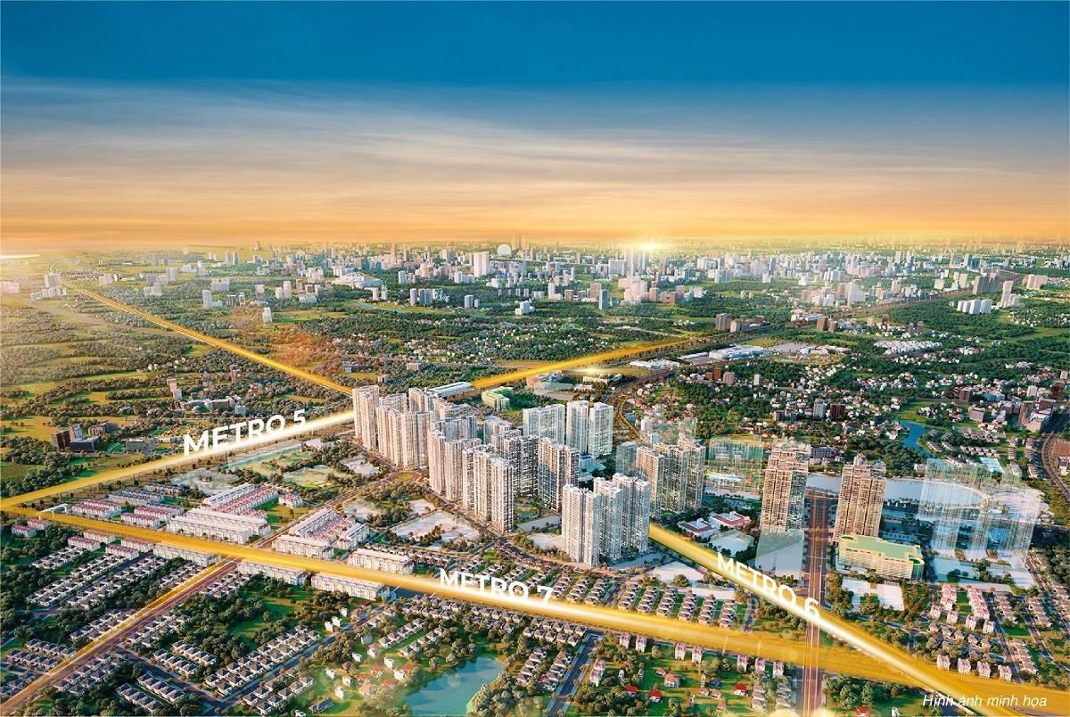 Dự đoán tương lai của đô thị siêu kết nối The Metrolines