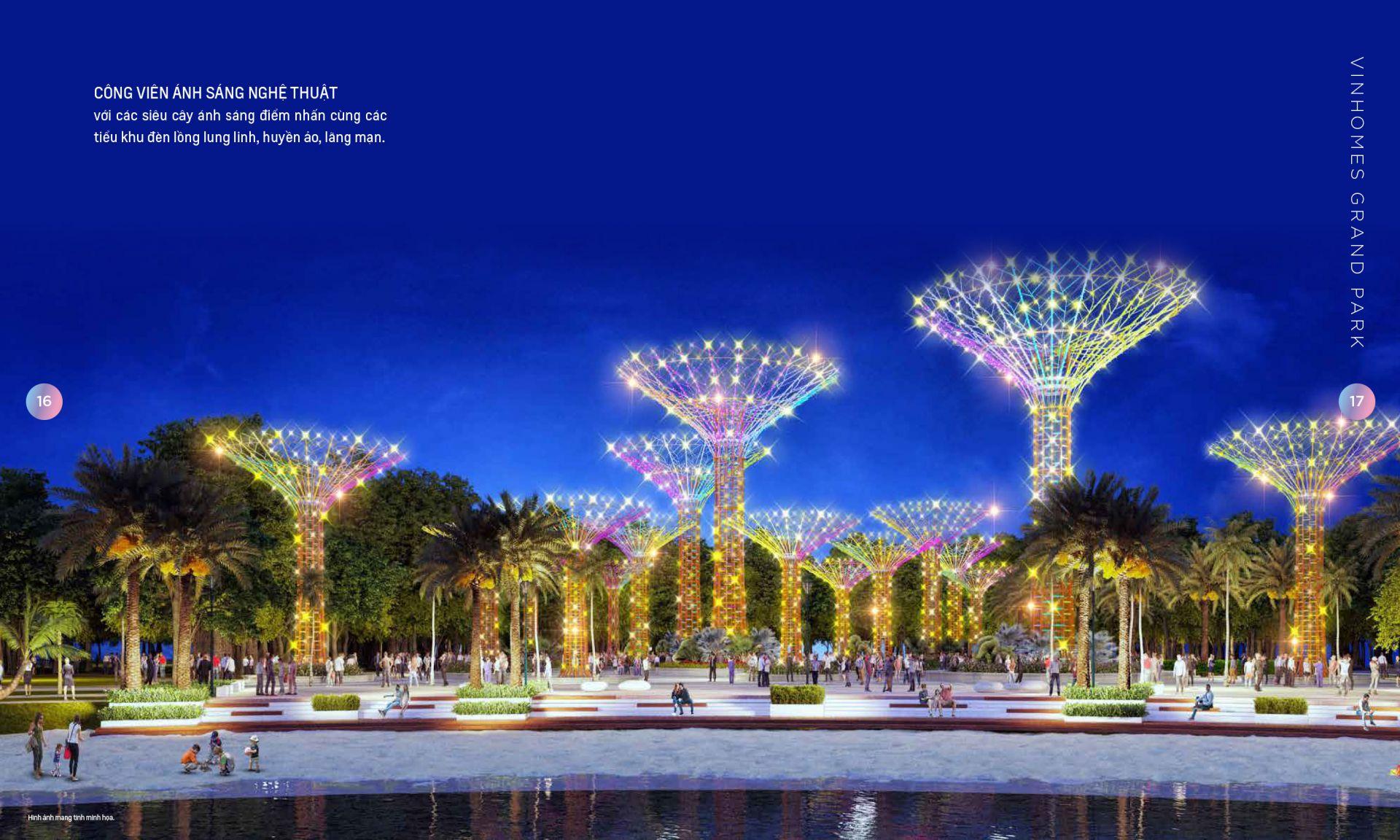 Choáng ngợp với công viên ánh sáng Vinhomes Grand Park