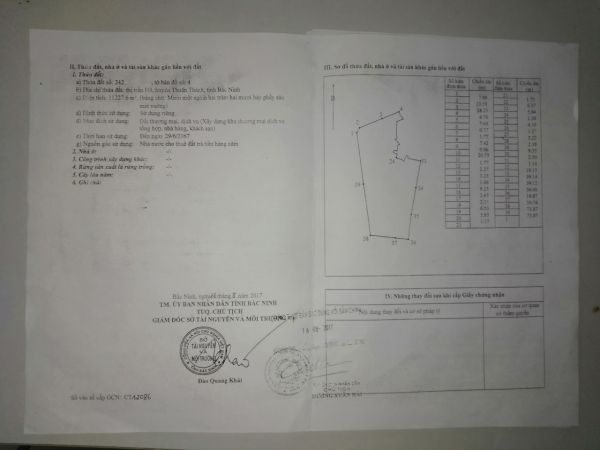 Bán Đất Thuận Thành Nằm Mặt Đường Ql38, Bắc Ninh - 535495