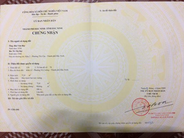 Chính Chủ Bán Lô Góc Đất Đồng Quán, Võ Cường, Bắc Ninh - 535528