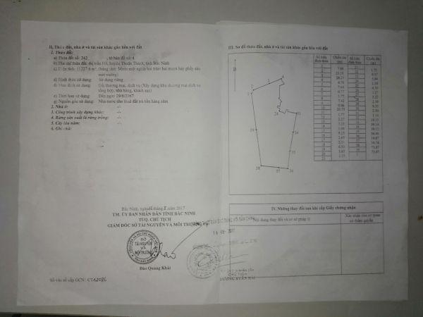 Chính Chủ Bán Đất Nằm Trên Mặt Đường Ql38 Thuận Thành, Bắc Ninh - 535663