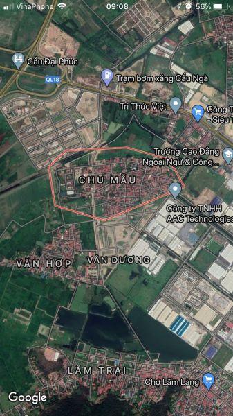 Chính Chủ Bán Lô Chu Mẫu Lô 26 Vân Dương, Tp Bắc Ninh, Bắc Ninh - 536752