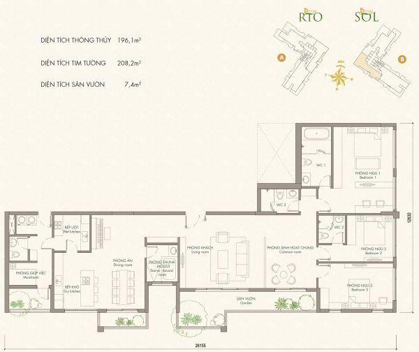 Penthouse Masteri An Phú, Xa Lộ Hà Nội, 210M2, Nhà Mới, Bán 23 Tỷ - 538162