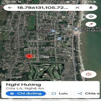 Bán Lô Đất Siêu Đẹp Gần Biển Cửa Lò. Cạnh Khu Đô Thị Nguyễn  Sinh Cung. Lh: 0916-801-373 - 539977