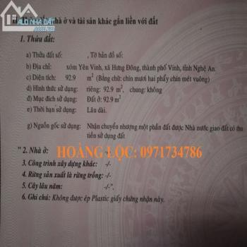 Đất Chính Chủ - Hưng Đông - Lối Nguyễn Chí Thanh - Giá Chỉ 1 Tỷ - 543301