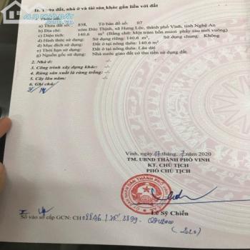 Bán Miếng Đất Đấu Giá Sau Trường Cao Đẳng Du Lịch, Hưng Lộc, Tp Vinh - 543871