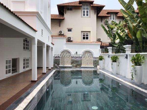 Cho Thuê Biệt Thự Khu Kim Sơn Thảo Điền, 25X20M Đất, 2 Tầng, 4Pn, Nội Thất Cơ Bản - 560614