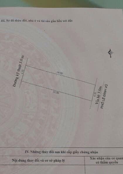 Bán Đất Mặt Phố Lê Đình Vũ, Đông Nam Cường, Tp Hd, 87.75M2, Mt 4.5M, Hướng Đông Nam, Giá Tốt - 569539