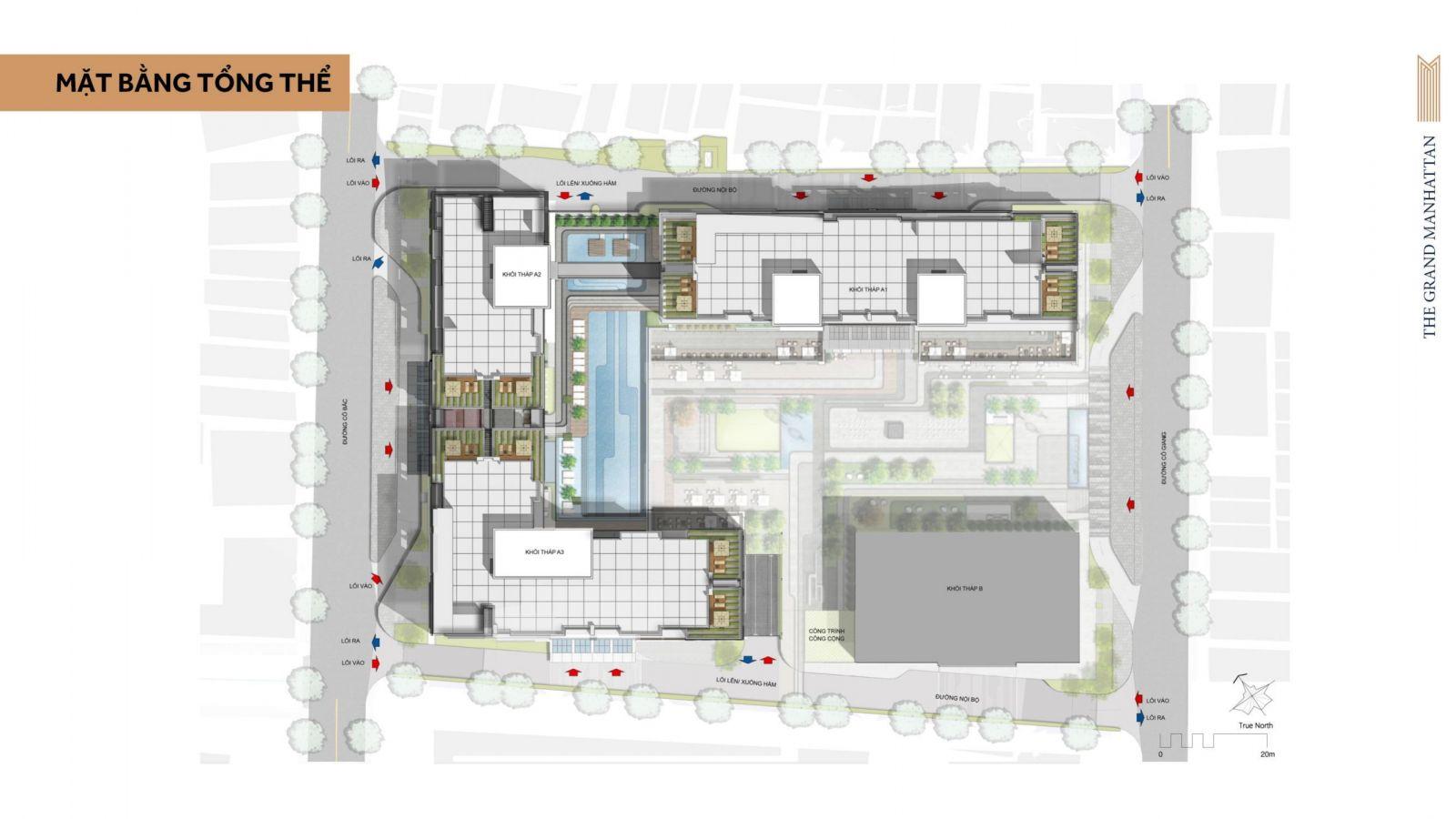 Mặt bằng tổng thể dự án The Grand Manhattan