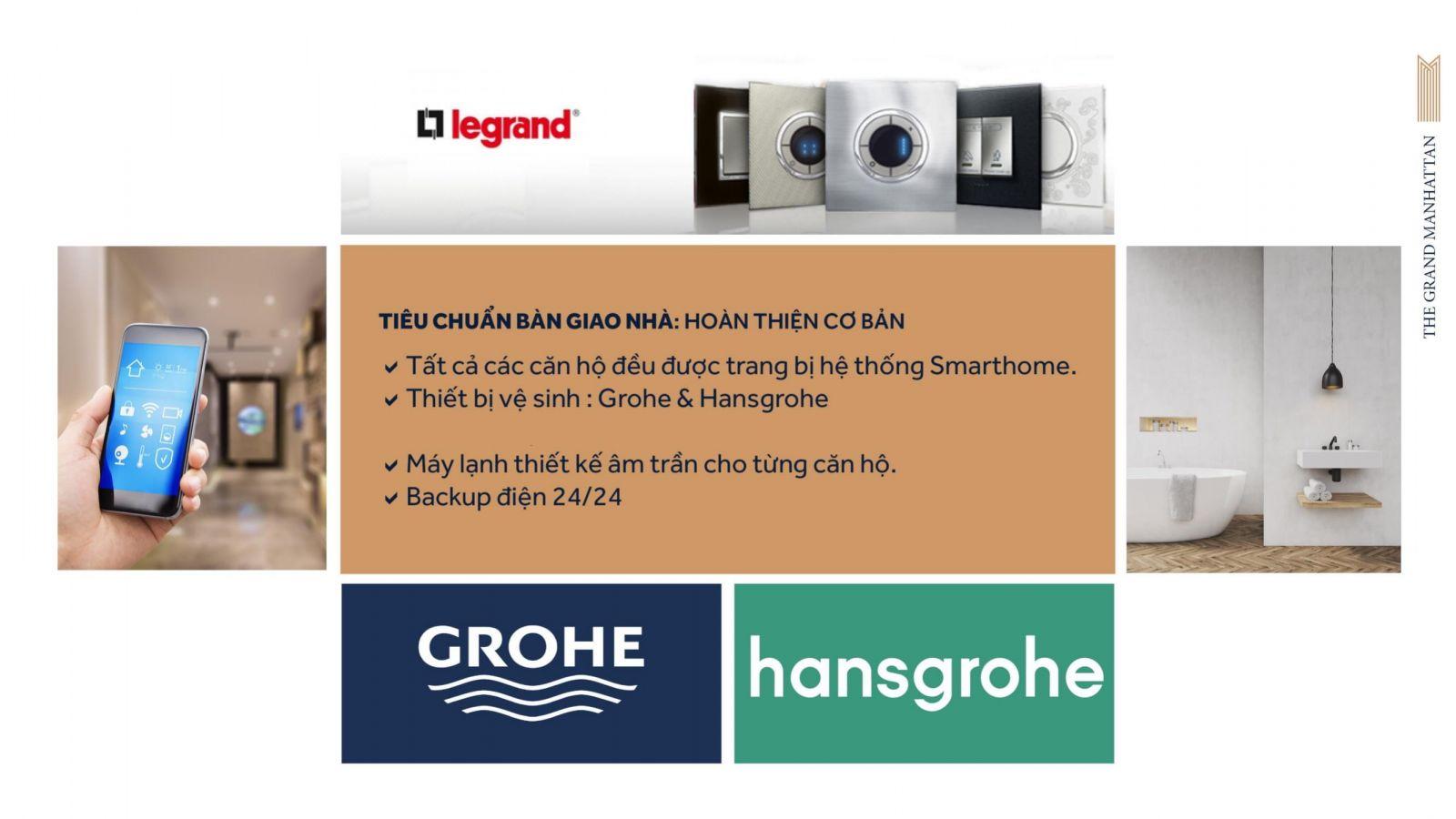 Tiêu chuẩn hoàn thiện căn hộ dự án The Grand Manhattan